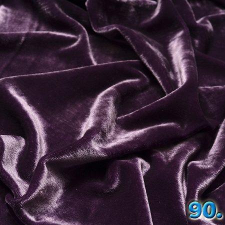 Carmen elasztikus bársony kötött anyag (plüss fényes) 95% poliészter 5% elasztán(spandex) szélesség:150cm