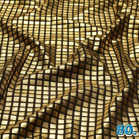 Foil nyomott mintás kötött kelme (Lamé kelme) ,100% poliészter szélesség:150cm