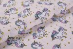 Gyerekmintás vászon, szélesség: 140cm, 100% pamut - UNIKORNIS