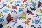 Gyerekmintás vászon, szélesség: 140cm, 100% pamut - DINÓK