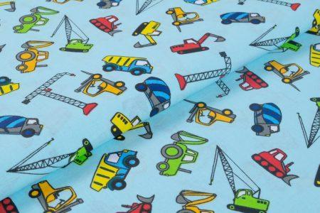 Gyerekmintás vászon, szélesség: 140cm, 100% pamut - nagyautók