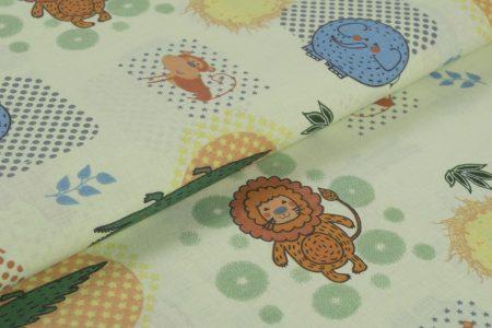 Gyerekmintás vászon, szélesség: 140cm, 100% pamut - SZAFARI