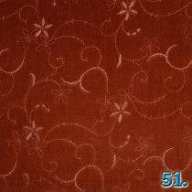 Kordbársony hímzett 16W elasztikus mosott,  97%pamut 3% elasztán(spandex) szélesség:142cm