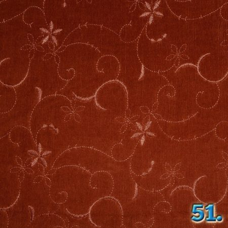 CORDUROY WITH EMBRODIERY, 16W STRETCH WASHED 97% COTTON 3% ELASTHANE, WIDTH:142CM