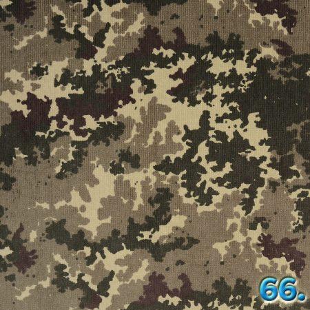 Kordbársony pamut terepmintás 16W elasztikus mosott,  97%pamut 3% elasztán, szélesség:142cm