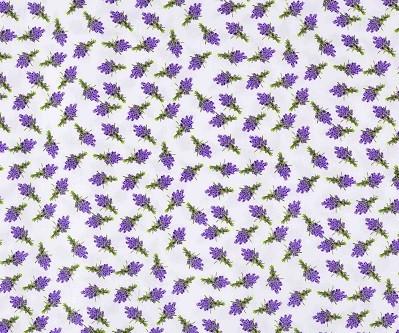 Gyerekmintás vászon, szélesség: 140cm, 100% pamut - LEVENDULA CSOKOR