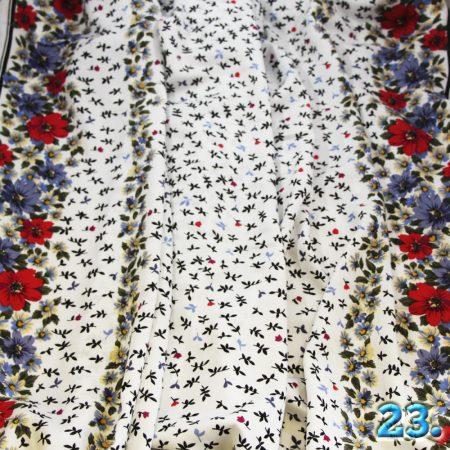 Puplin viszkóz mintás,(burdűrös virágmintás), 100% viszkóz, szélesség: 145cm